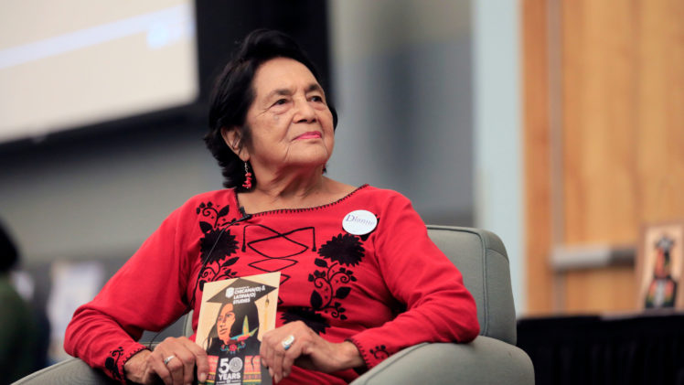 Civil rights pioneer Dolores Huerta at Cal State LA.